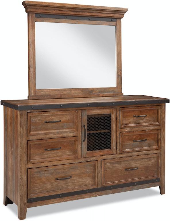 Intercon Taos Six Drawer Dresser W Door Ts Br 3507 Cyb