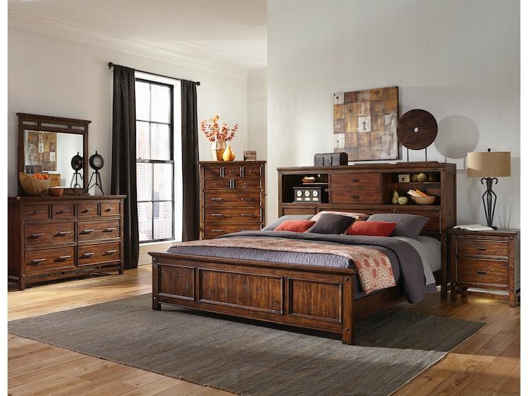 Intercon Bedroom Wolf Creek Bookcase Bed Wk Br 6190b Vac C