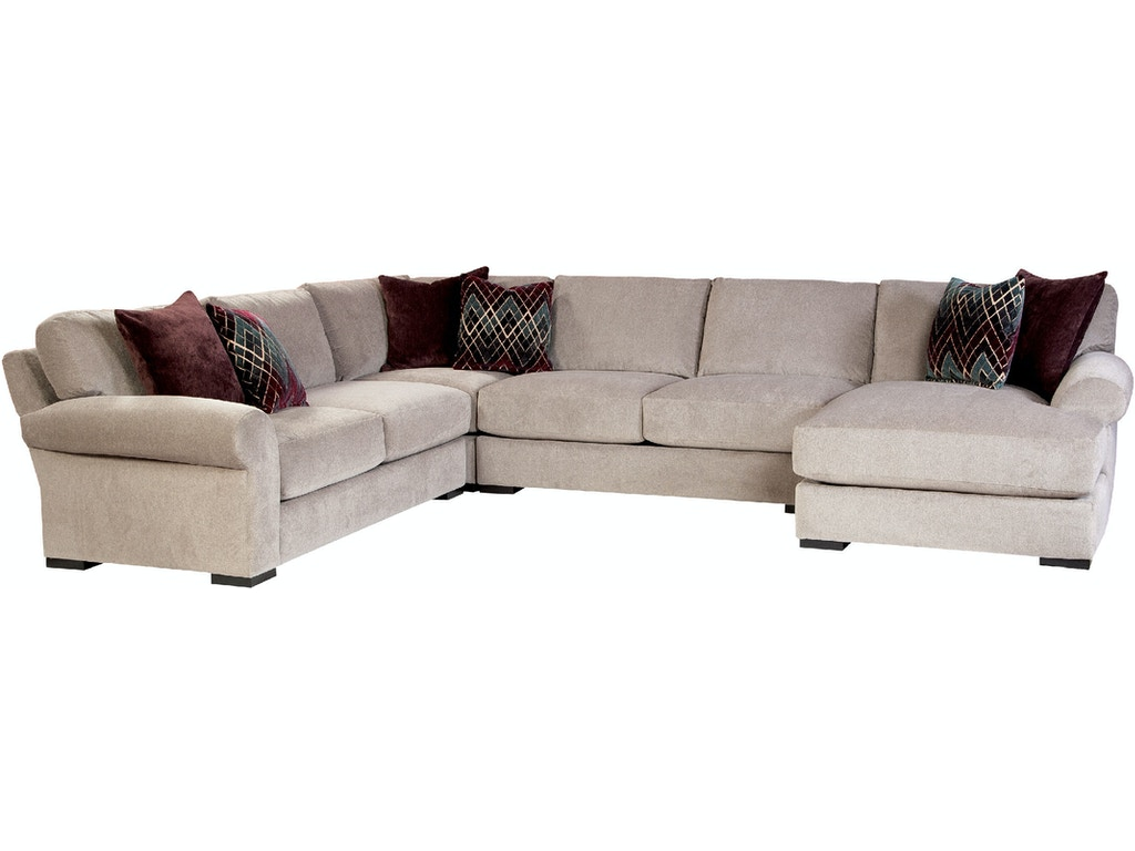 Jonathan Louis International Living Room Elise Sectional 193 Sectional Charter Furniture
