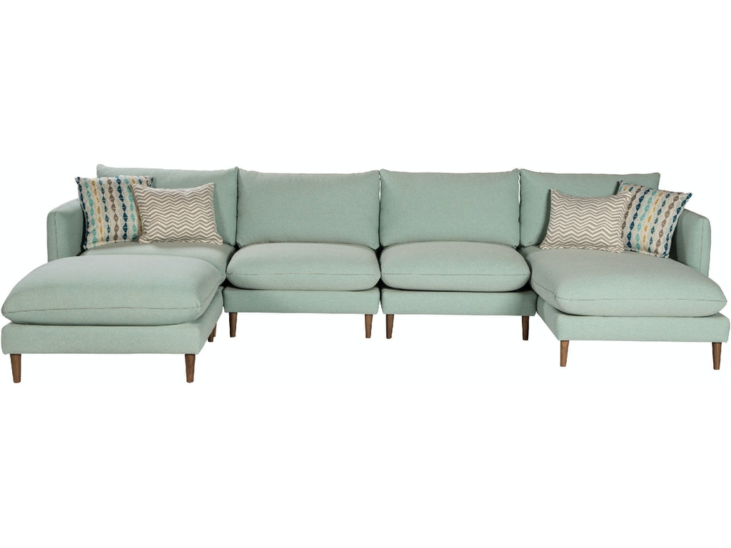 Jonathan Louis International Living Room Melbourne Sectional 304 Sectional Treeforms Furniture