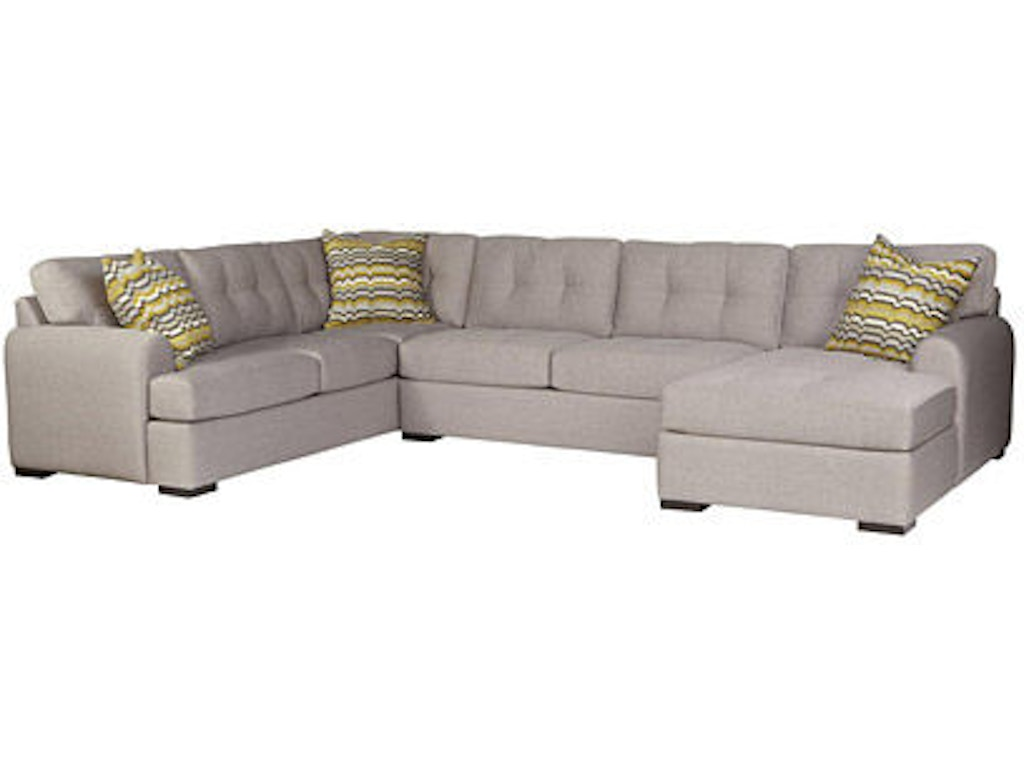 Jonathan louis international living room crosby sectional for Furniture anchorage