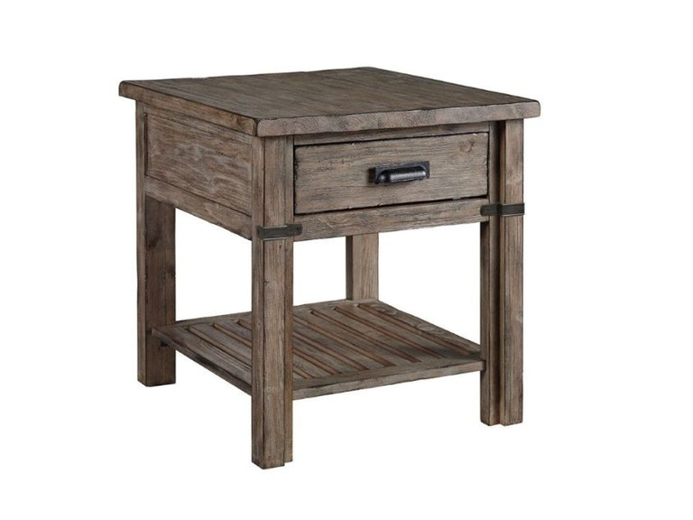 Kincaid furniture living room drawer end table 59 022 for Living room end tables with drawers