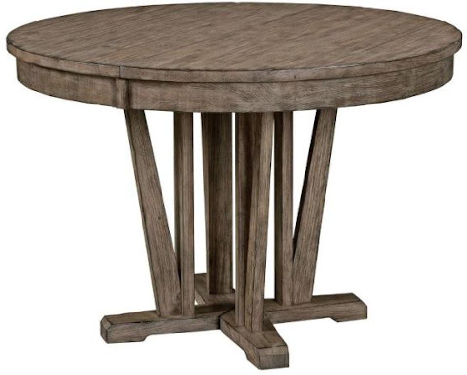 kincaid furniture dining room round dining table 59 052. Black Bedroom Furniture Sets. Home Design Ideas