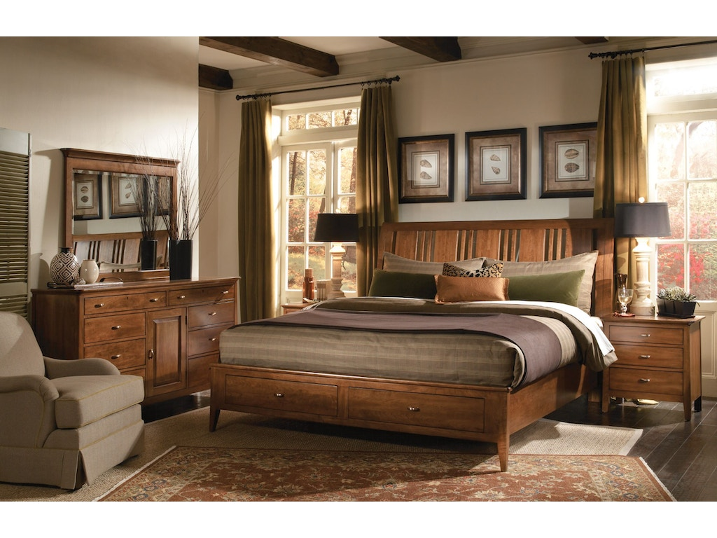 Kincaid furniture bedroom 6 6 sleigh bed 63 152pv for Bedroom furniture raleigh nc