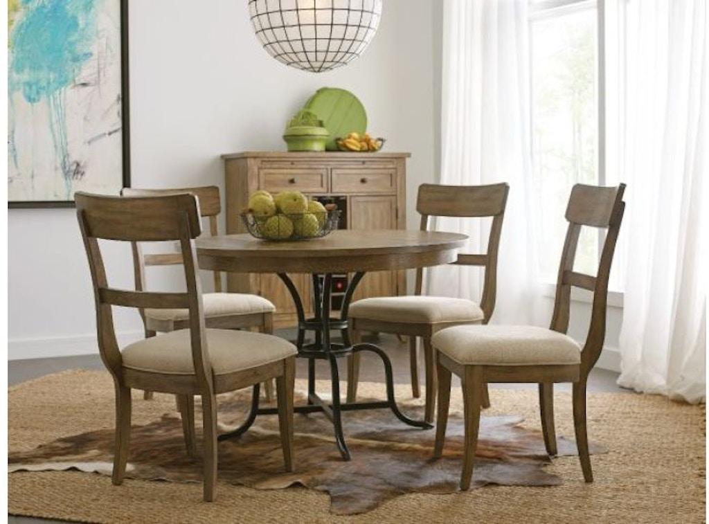 Kincaid furniture 44 round dining table w metal base ki66344mp from walter e