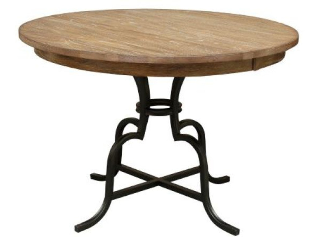 Groovy Kincaid Furniture Bar And Game Room 54 Round Counter Height Table W Metal Base 663 54Mcp Walter E Smithe Furniture Design Ocoug Best Dining Table And Chair Ideas Images Ocougorg