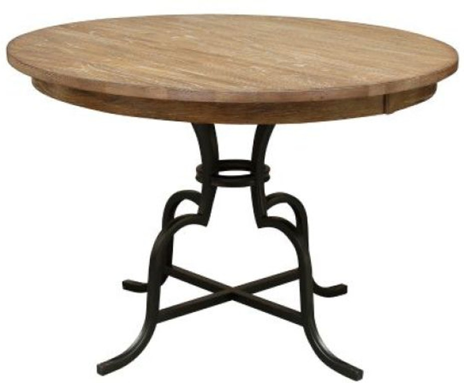Kincaid Furniture Dining Room 54 Round Dining Table With Metal Base 663 54mp Carol House