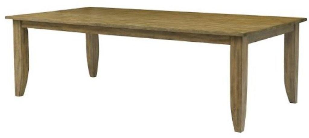 Kincaid Furniture Dining Room 80 Large Rectangular Leg Table 663 761 D Noblin Furniture Pearl