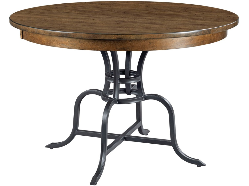 Round Dining Table W Metal Base 664 44mp
