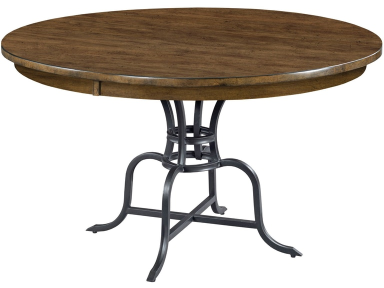 Kincaid Furniture 54 Round Dining Table W Metal Base 664 54mp