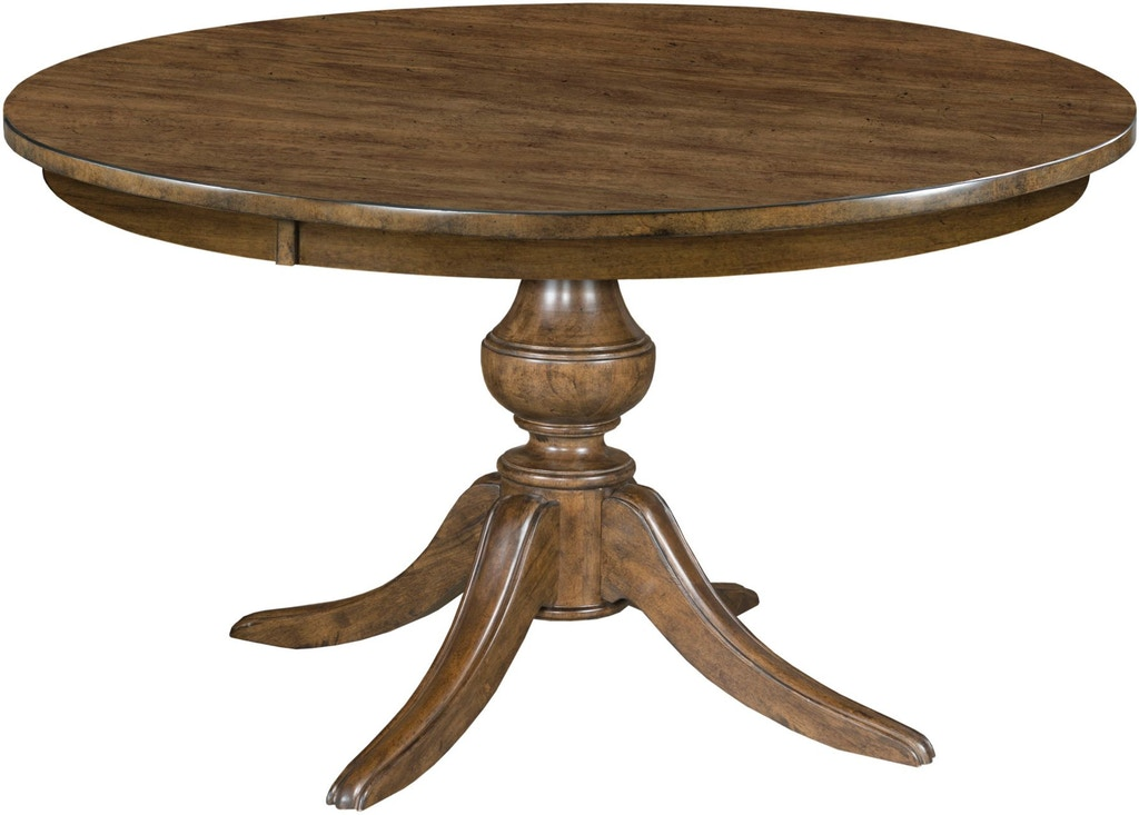 Kincaid Furniture Bar And Game Room 44 Round Dining Table With Wood Base 664 44wp Carol House