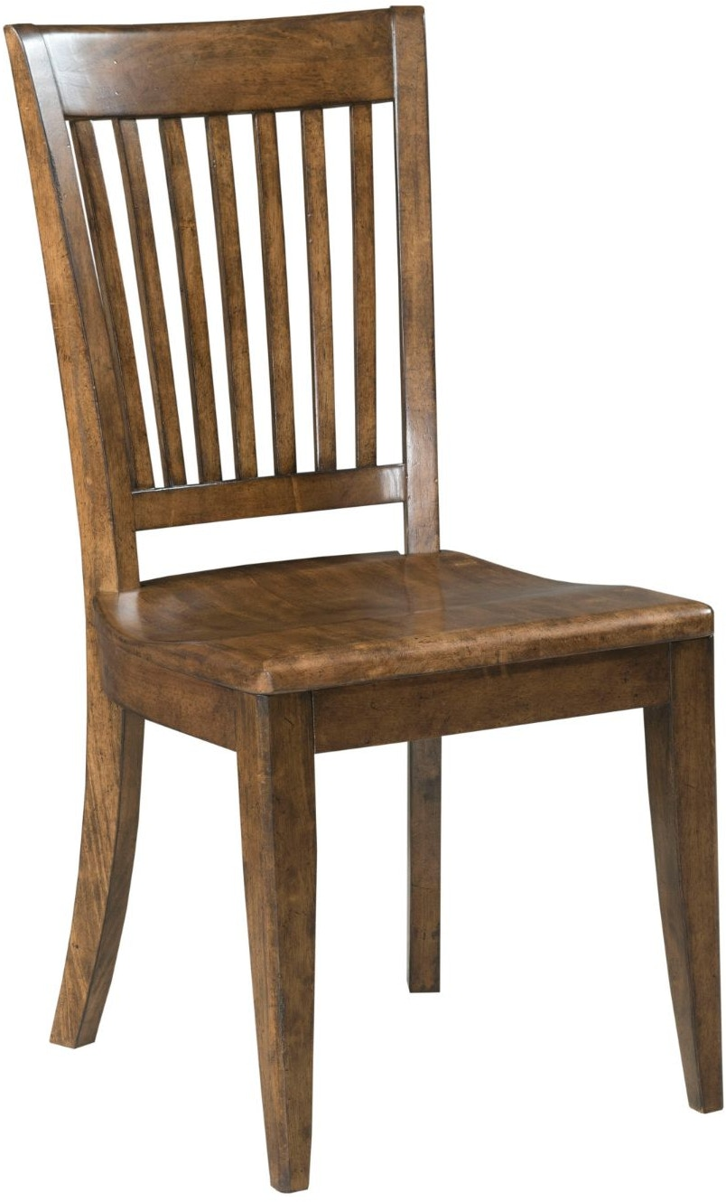 Kincaid Furniture Bar And Game Room Wood Seat Side Chair