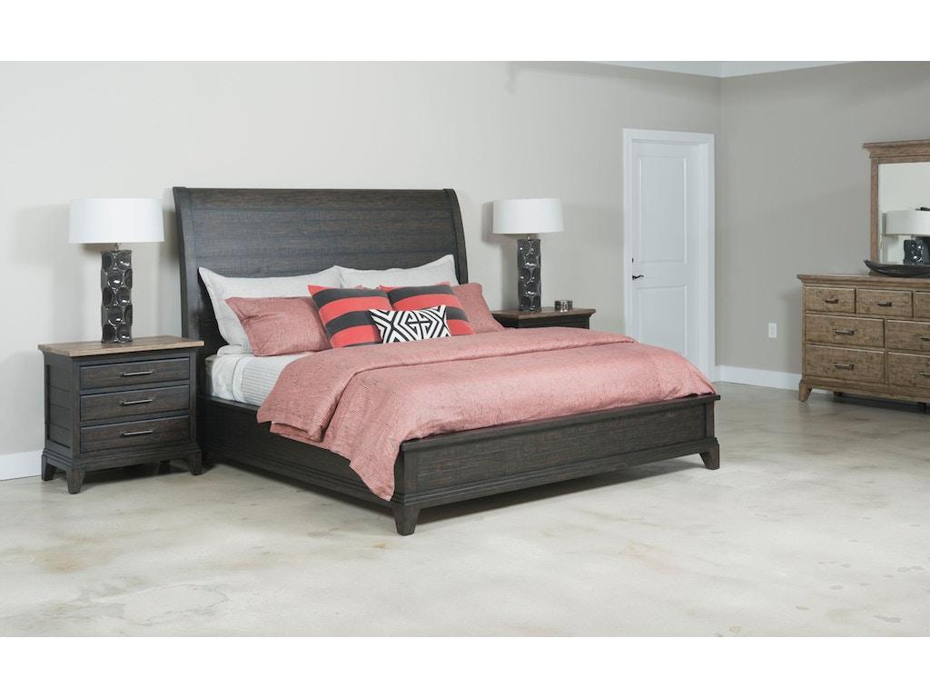 Kincaid Furniture Bedroom Eastburn Sleigh Queen Bed Complete 706 313cp Carol House Furniture