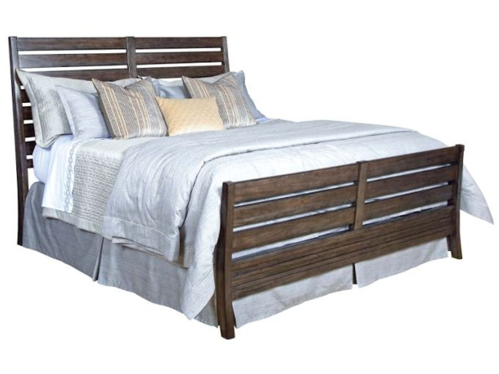 Kincaid furniture bedroom slat bed 6 6 package 84 152pv for Q furniture and mattress beaumont tx