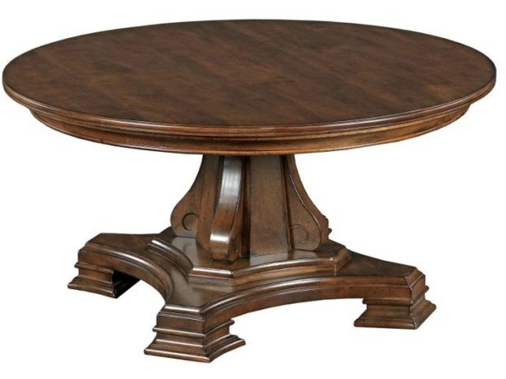 Kincaid furniture living room round cocktail table package for Living room round table