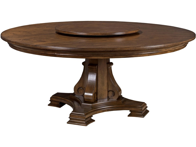 Kincaid Furniture Dining Room 72 Round Dining Table Top 95