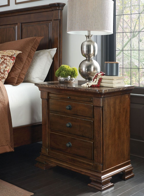 Kincaid Furniture Portolone Bachelors Chest W Marble Top 95 142m