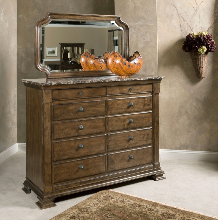Ashley Furniture Fayetteville Ar: Kincaid Furniture Bedroom Portolone Bureau W/Marble Top 95