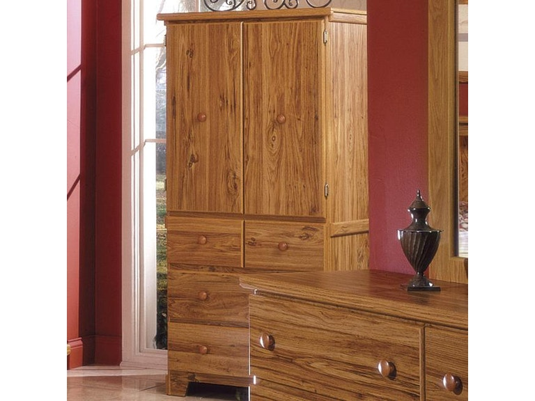 Lang Furniture Armoire Hang Rod W 2 Adjule Shelves Sha H 432