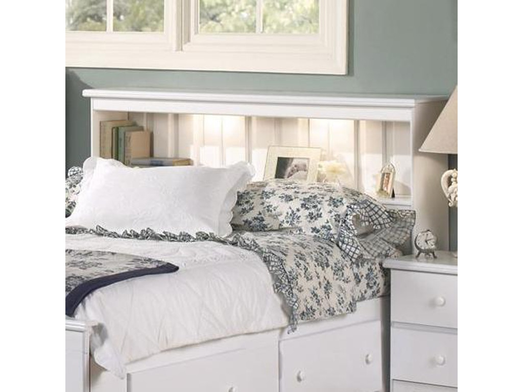 Lang Furniture Full Queen Bookcase Headboard With Lights Sha W 5 0bc12