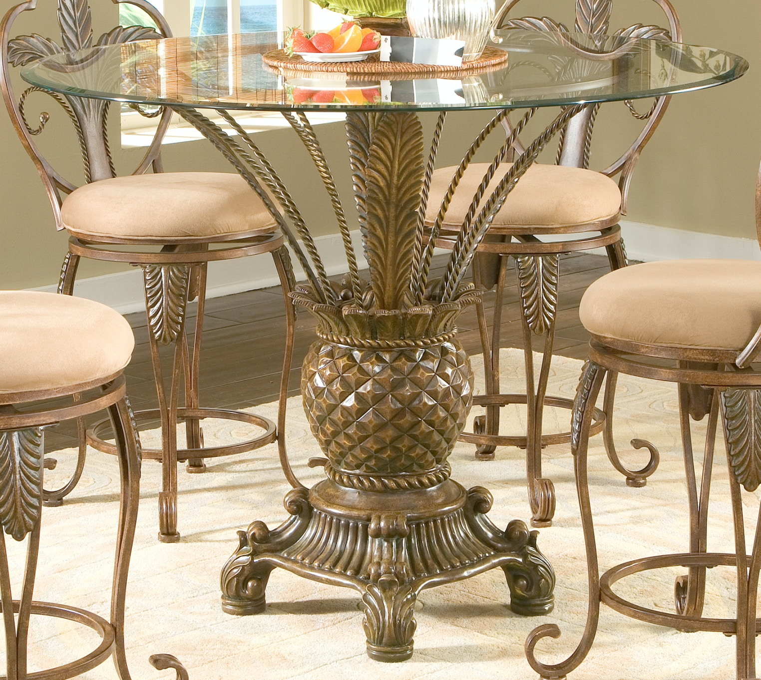Largo International Bar And Game Room Counter Height Table Base