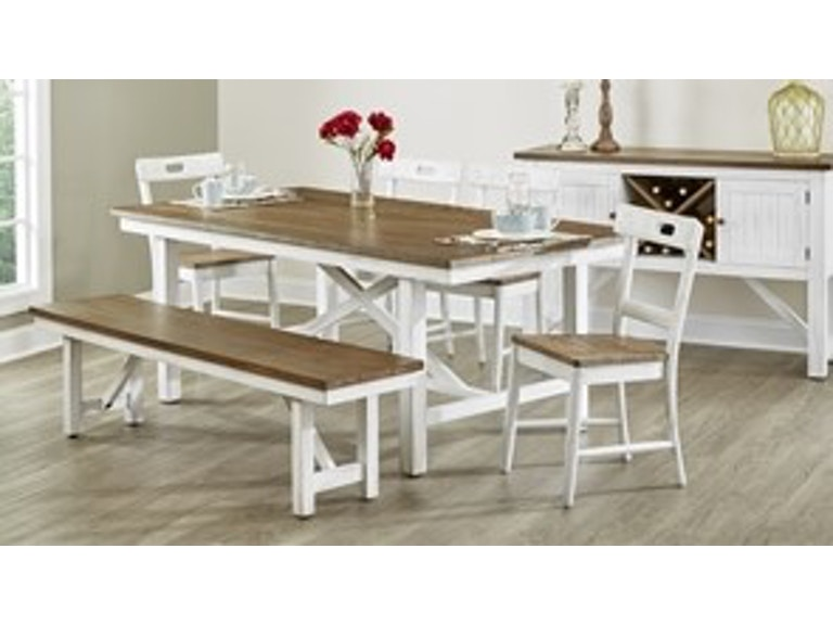 Largo International Dining Room Trestle Table D259 31 At BF Myers Furniture