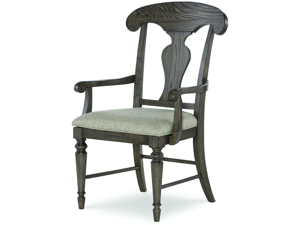 Legacy classic furniture dining room splat back arm chair for Legacy classic dining room furniture