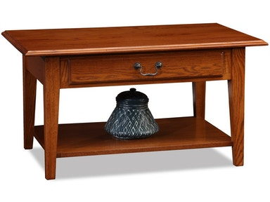 Leick Furniture Living Room Shaker Solid Oak Drawer Coffee Table