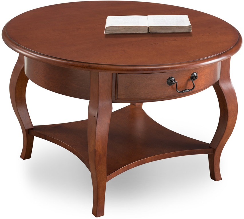 Leick Home Living Room Round Coffee Table 10034 Br La