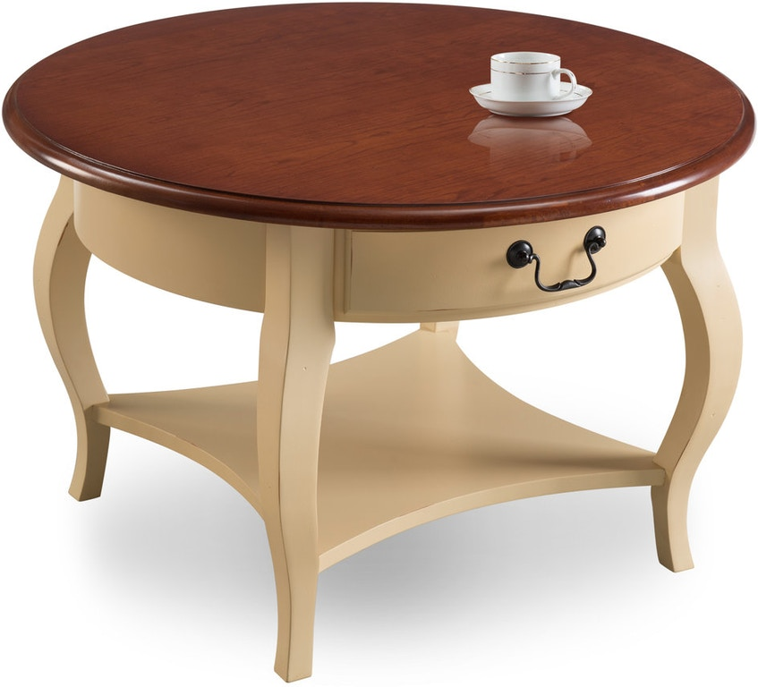 Murphy Coffee Table.Leick Home Living Room Round Coffee Table 10034 Iv Eller And Owens