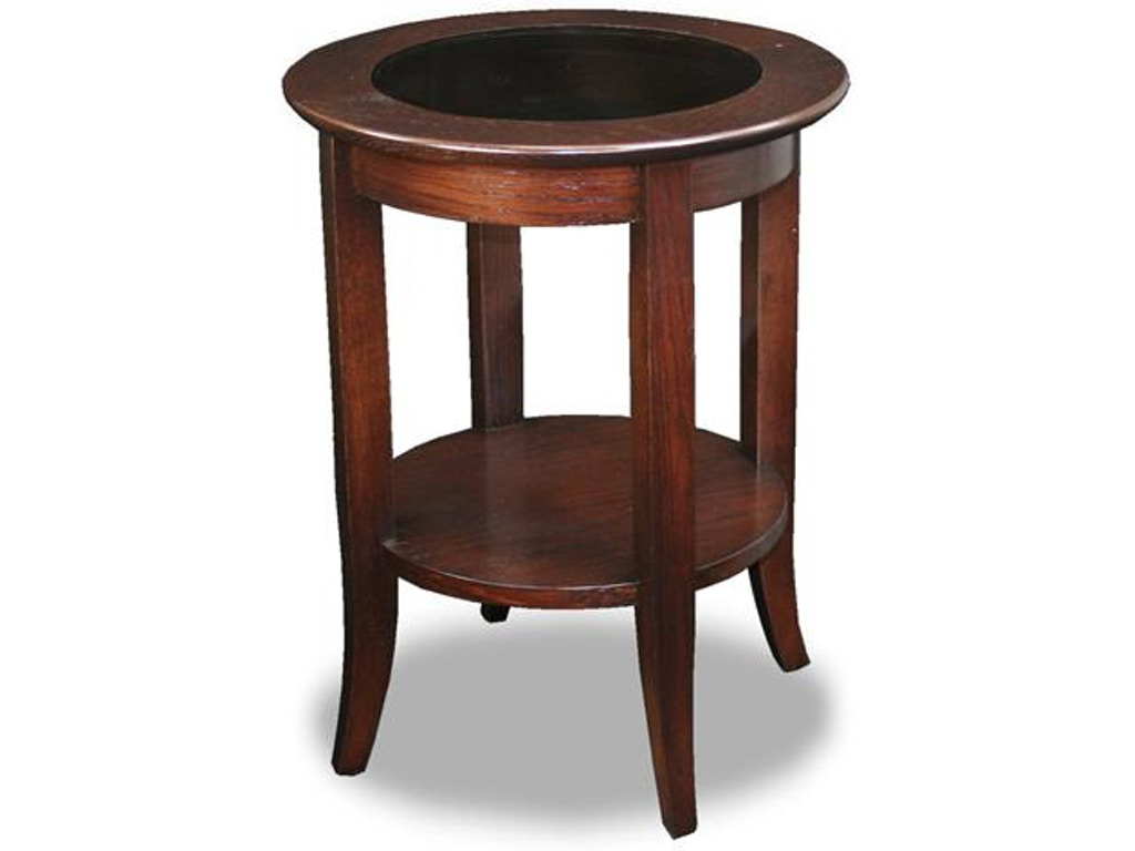 Bronze round side table 10036 details simple assembly the leick furniture living room