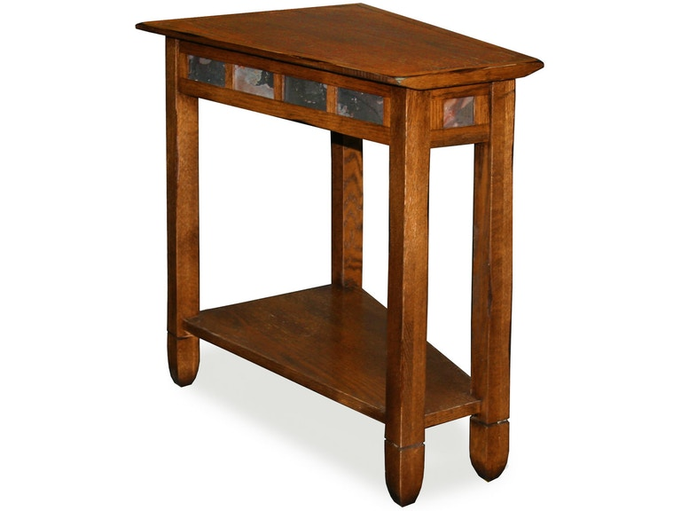 Leick Home Living Room Rustic Oak Wedge Side Table 10056 - Eller and ...