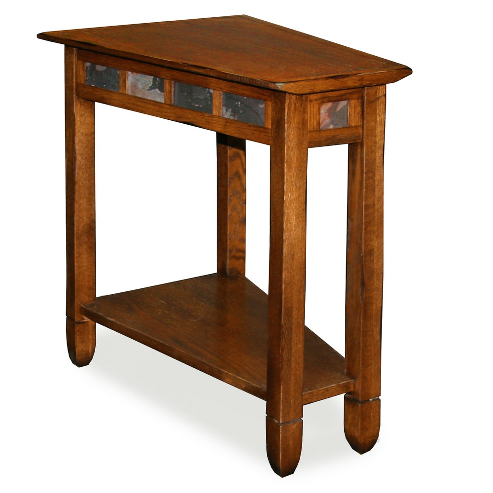Leick Furniture Rustic Oak Wedge Side Table 10056
