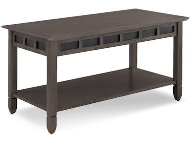 Leick Furniture Living Room Smoke Grey Oak And Black Slate Coffee Table