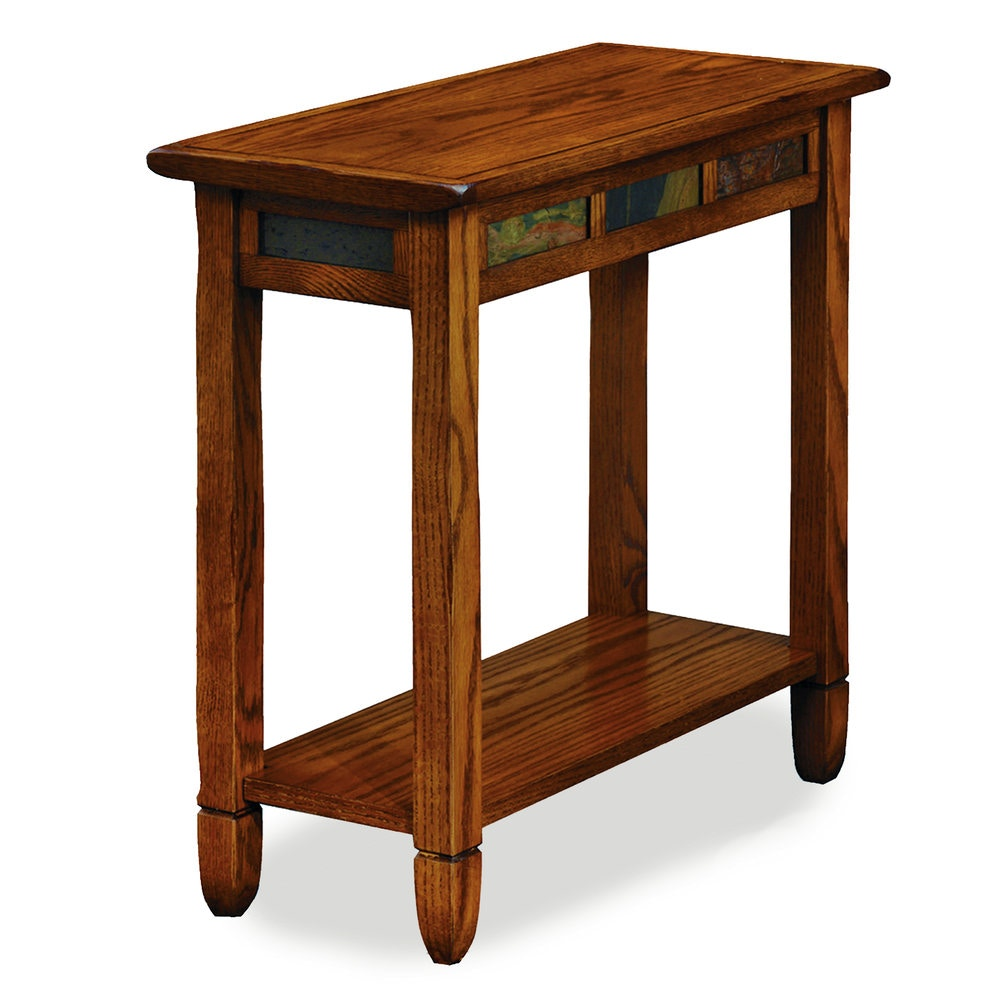 Leick Home Living Room Rustic Oak Chairside Table 10060 At Eller And Owens  Furniture