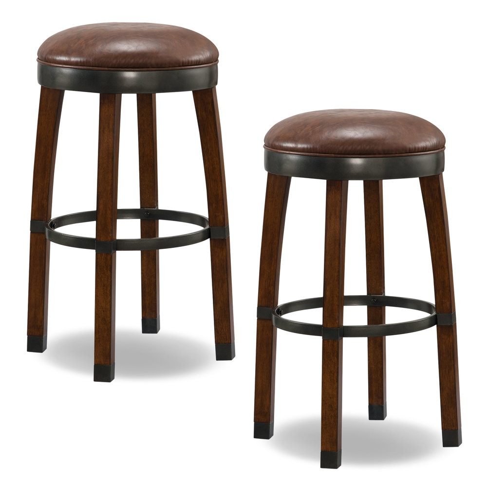 Leick Furniture Sienna Wood Cask Stave Bar Height Stool 10119SN/SB