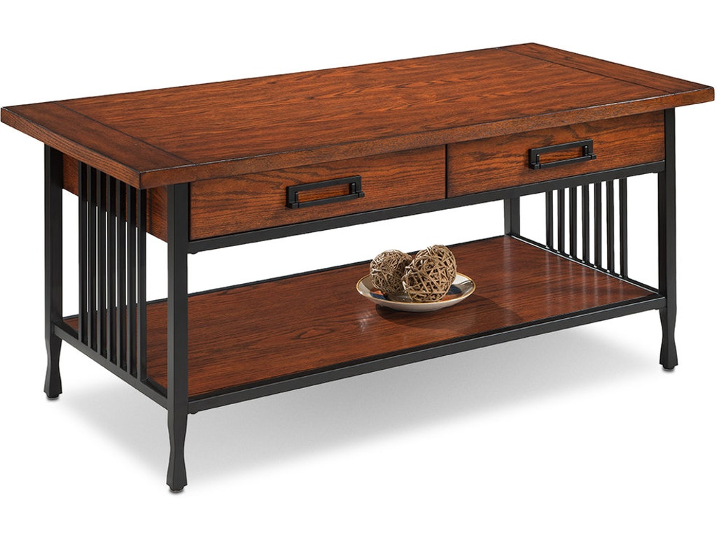 Leick Home Living Room Two Drawer Coffee Table 11204