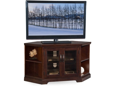 Leick Furniture Home Entertainment Chocolate And Black Glass Tv