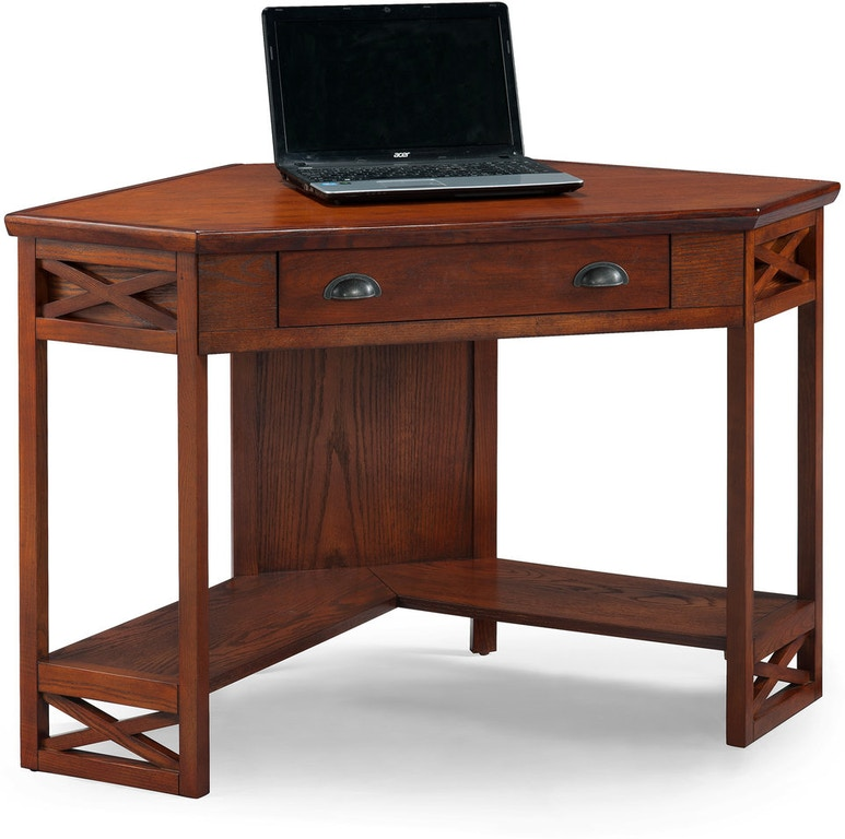 Leick Home Home Office Oak Corner Computer/Writing Desk