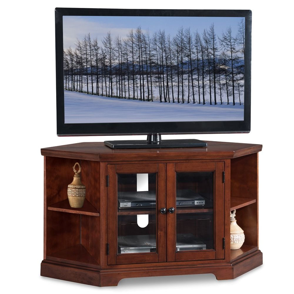 Leick Furniture Home Office 46 Corner Tv Stand With Bookcases