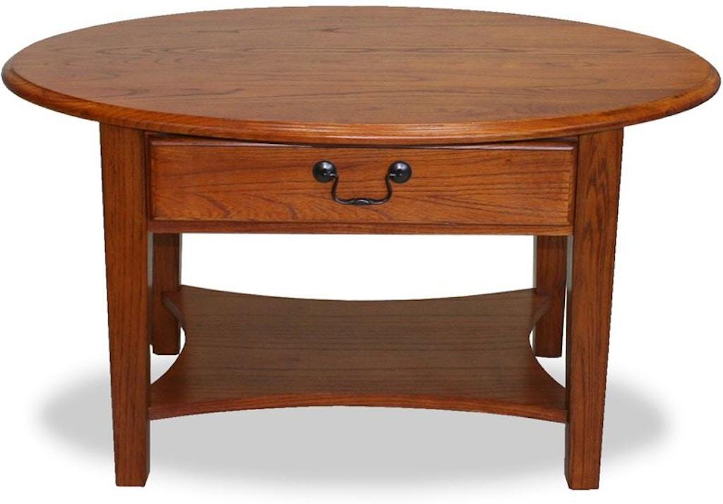 Terrific Leick Home Living Room Shaker Oval Coffee Table 9044 Med Home Interior And Landscaping Fragforummapetitesourisinfo