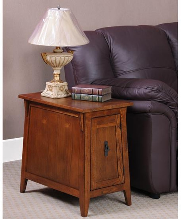 Leick Furniture Living Room Mission Cabinet End 10032 Rs Callan