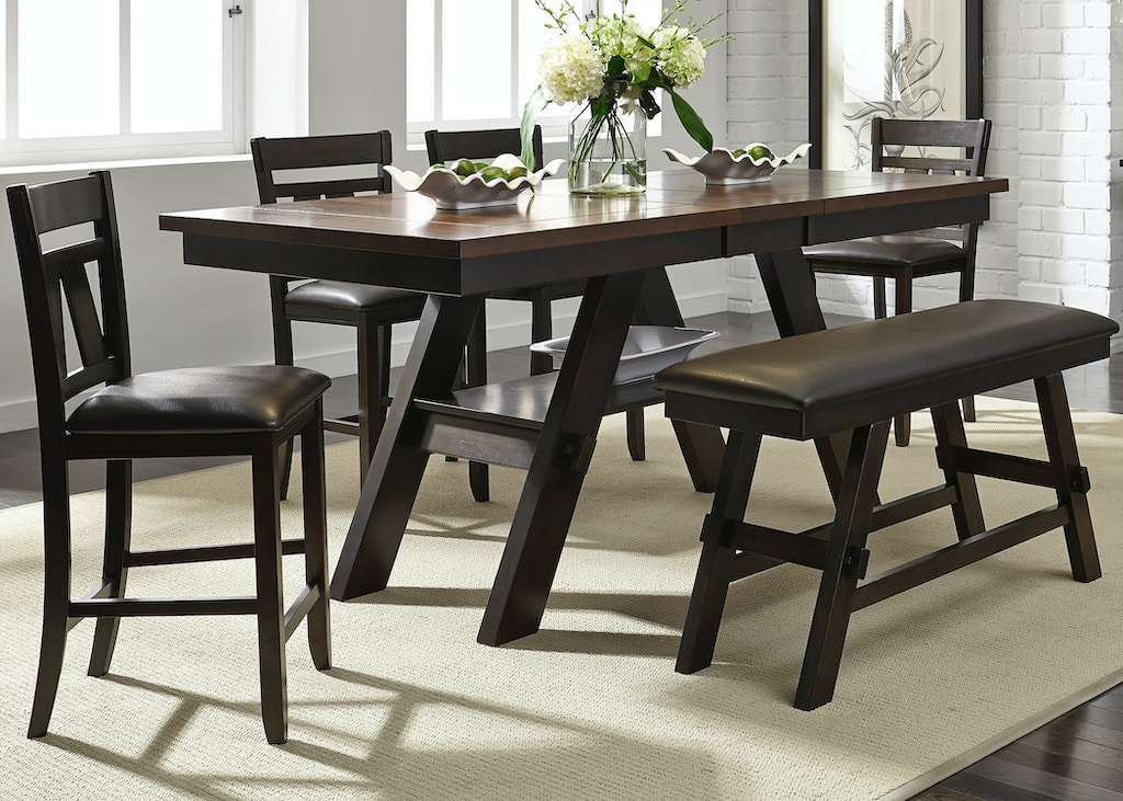 Liberty Furniture Dining Room 6 Piece Gathering Table Set