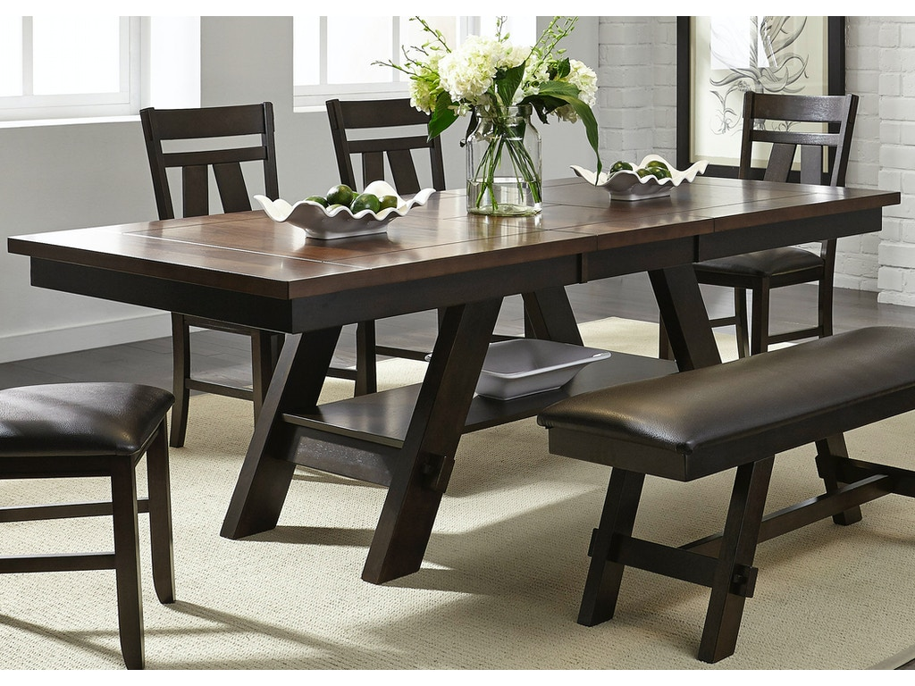 Liberty furniture dining room 5 piece rectangular table for Dining room t