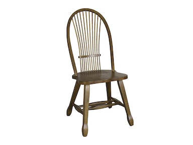 Homestead Collection-SU Sheaf Back Side Chair - Oak 17-C1032