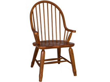 Homestead Collection-SU Bow Back Arm Chair - Oak 17-C2051
