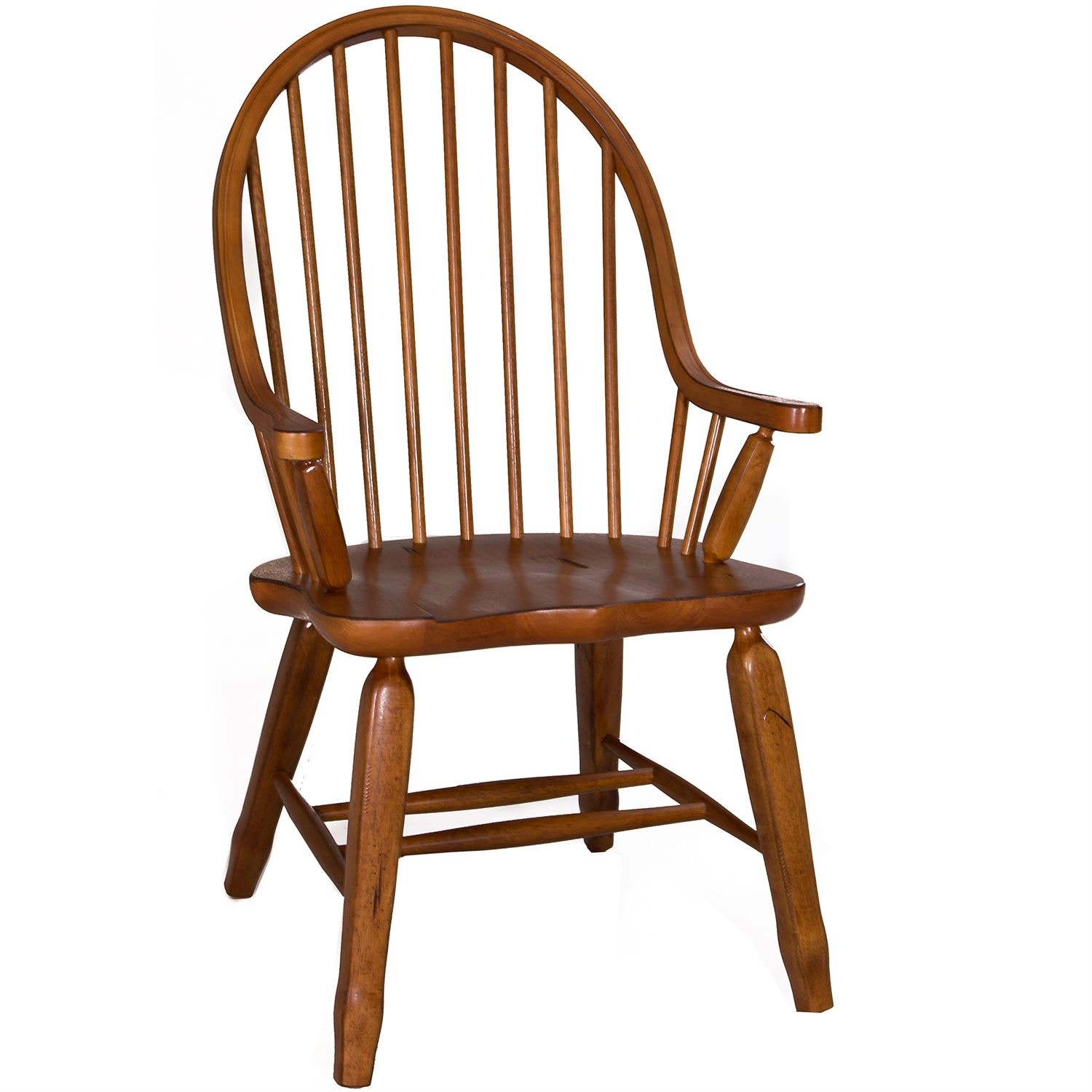 Liberty Furniture Bow Back Arm Chair   Oak 17 C2051