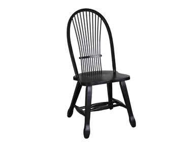 Homestead Collection-SU Sheaf Back Side Chair - Black 17-C4032