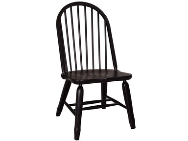 Homestead Collection-SU Bow Back Side Chair - Black 17-C4050