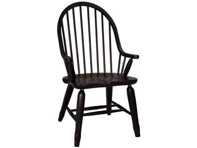 Homestead Collection-SU Bow Back Arm Chair - Black 17-C4051